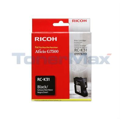 RICOH G7500 INKJET CARTRIDGE BLACK